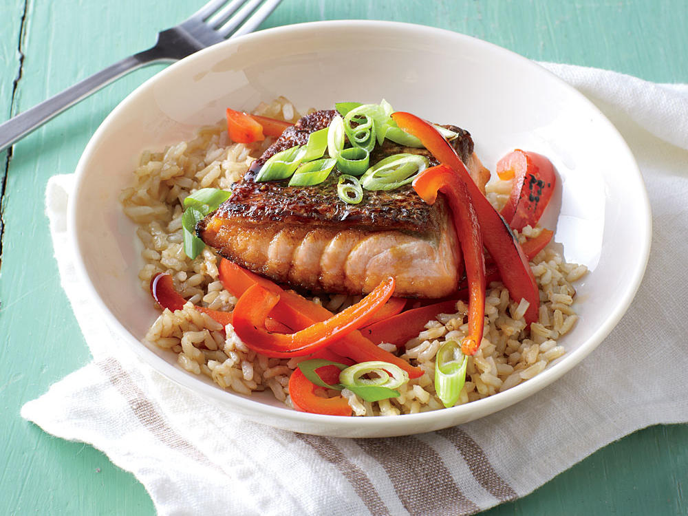 Teriyaki Salmon Rice Bowls