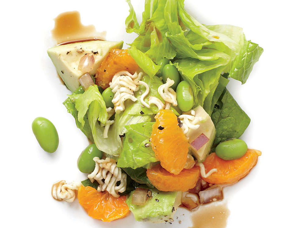 Ramen noodles add a delightful crunch to this Asian-inspired salad.