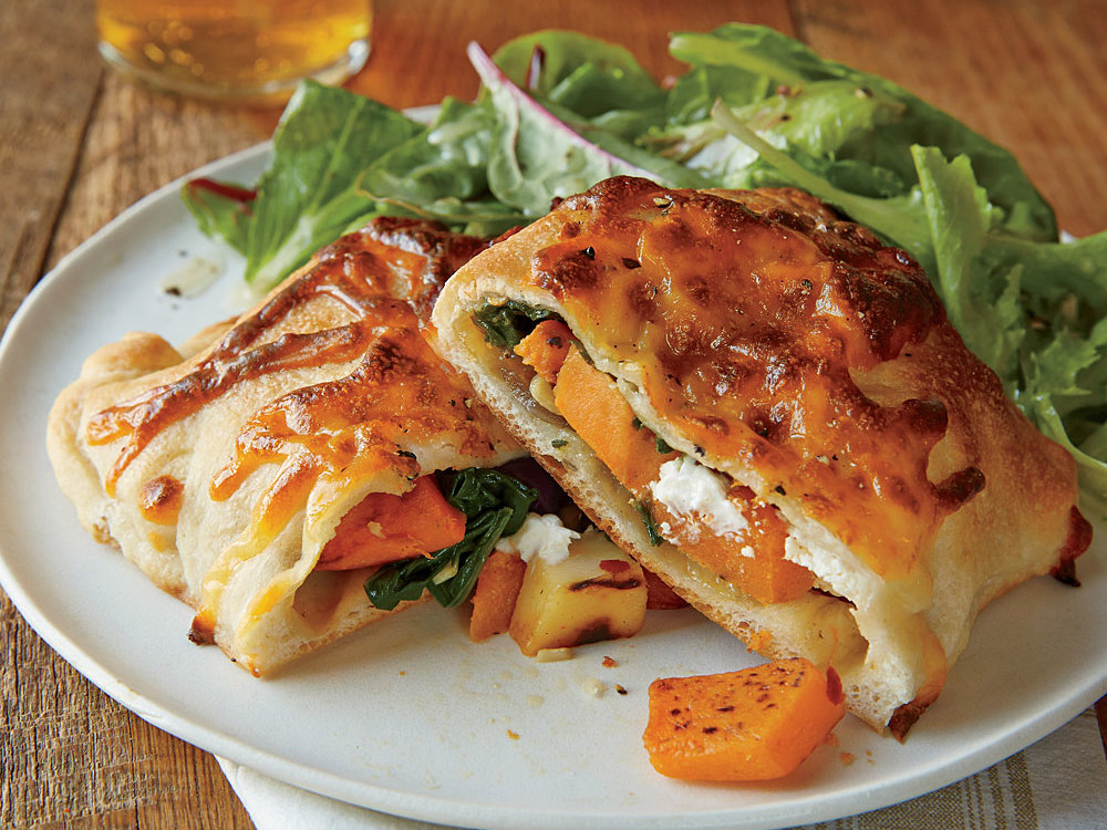 Roasted Vegetable and Spinach Turnovers