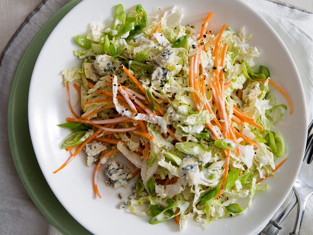 Buttermilk and Blue Cheese Slaw