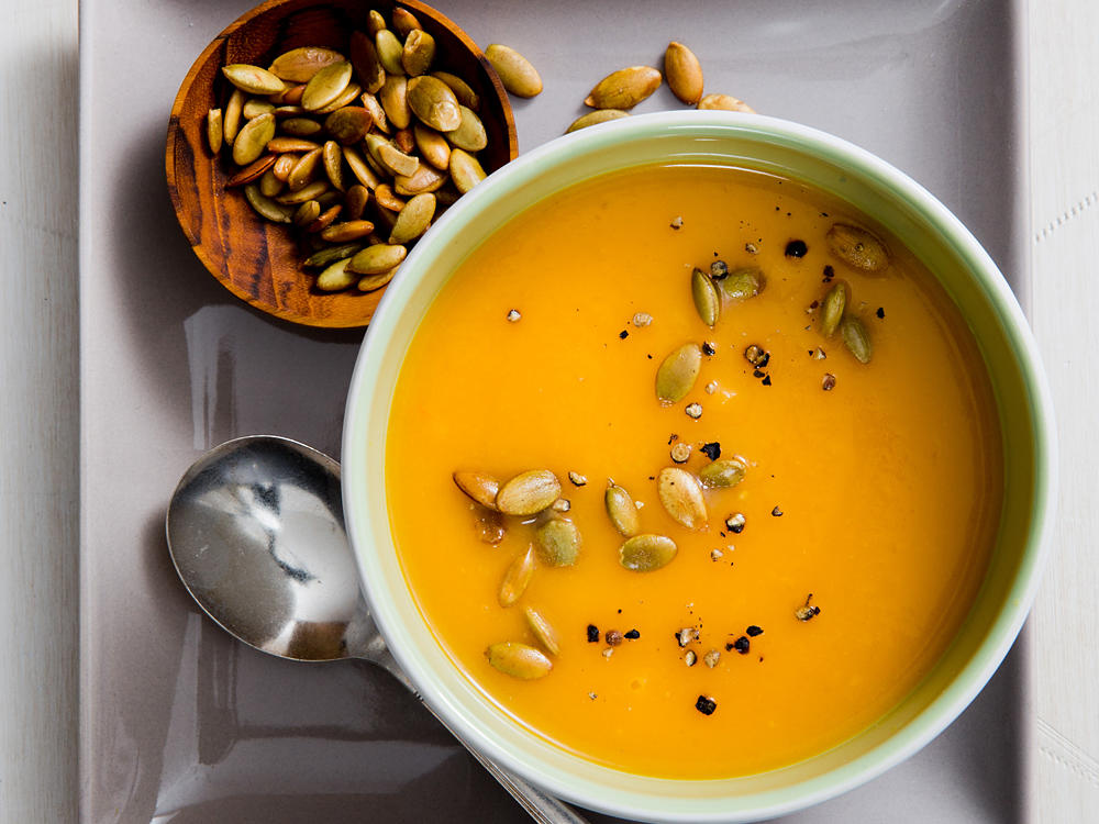 Buttermilk Butternut Soup with Toasted Pumpkinseeds