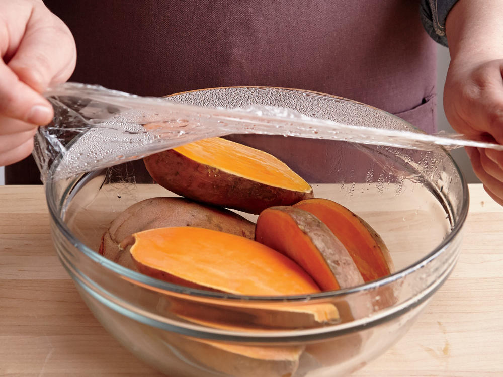 Microwave sweet potato
