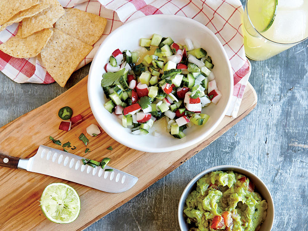 Cucumber and Radish Pico de Gallo