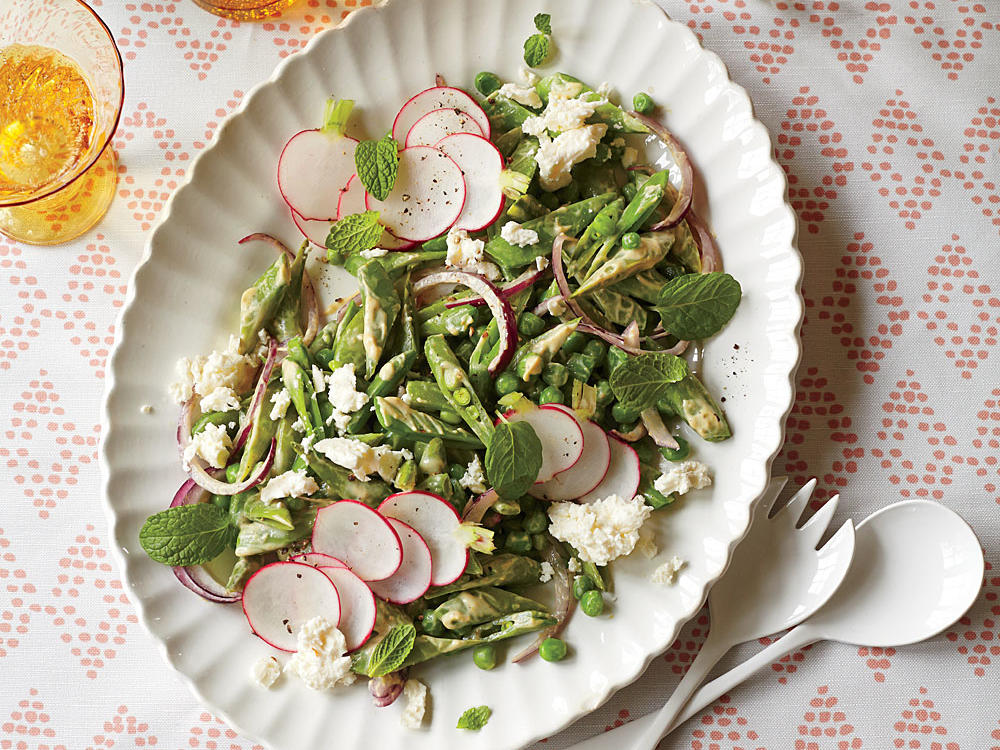 Spring Pea Salad with Creamy Curry Dressing recipe