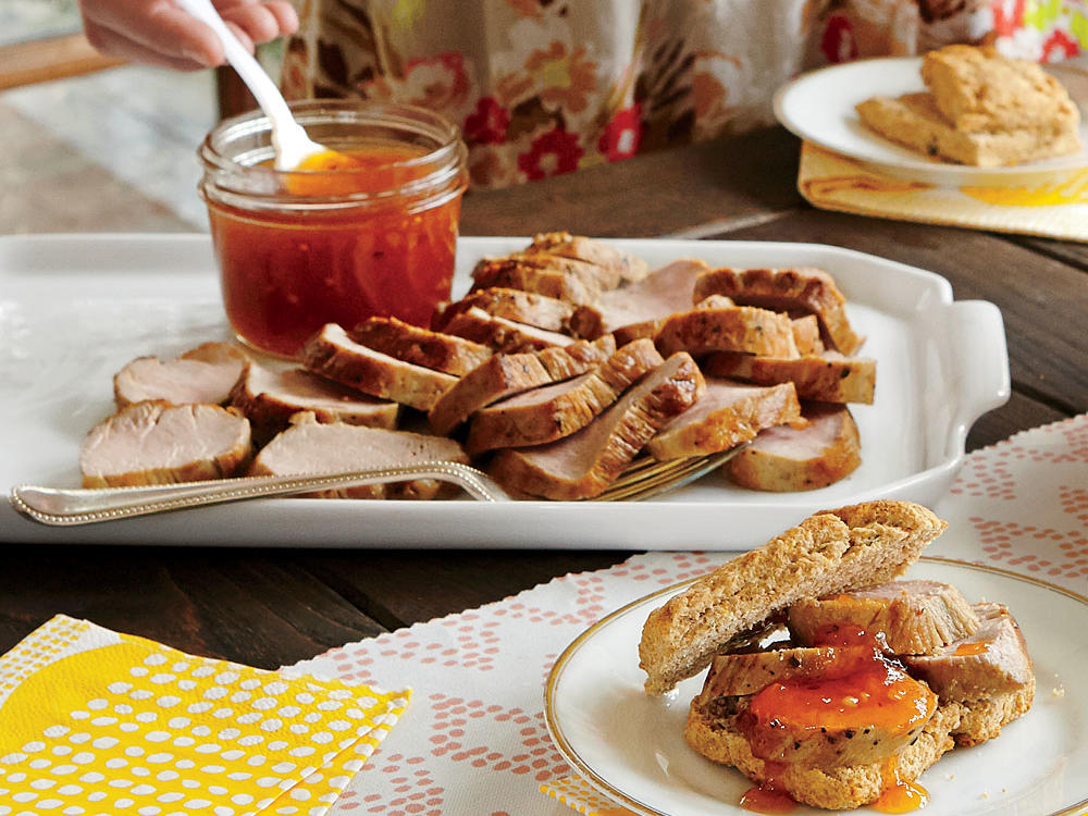 Roast Pork Tenderloin with Spicy Apricot Jam