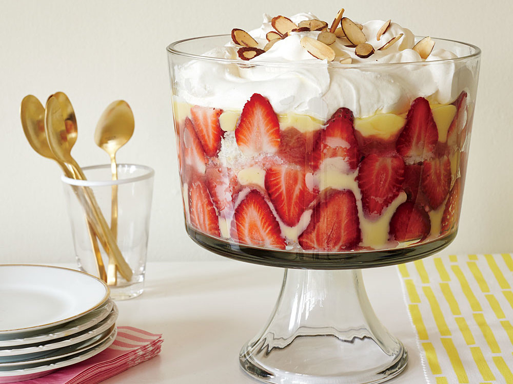 Strawberry Rhubarb Trifle