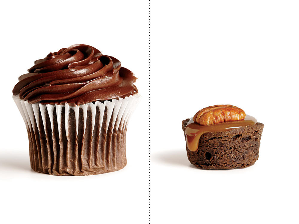 Instead of a Chocolate Cupcake, Treat Yourself to a Turtle Brownie Bite