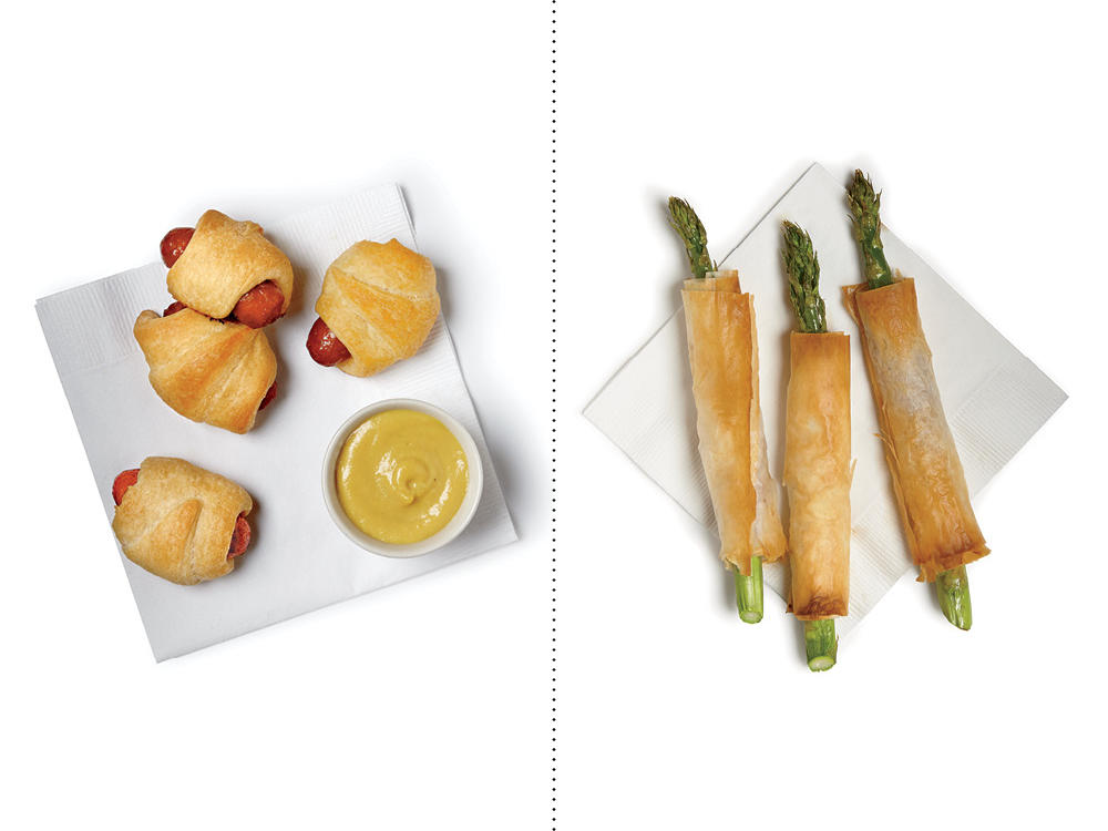Instead of Pigs in a Blanket, Try our Asparagus Rolls