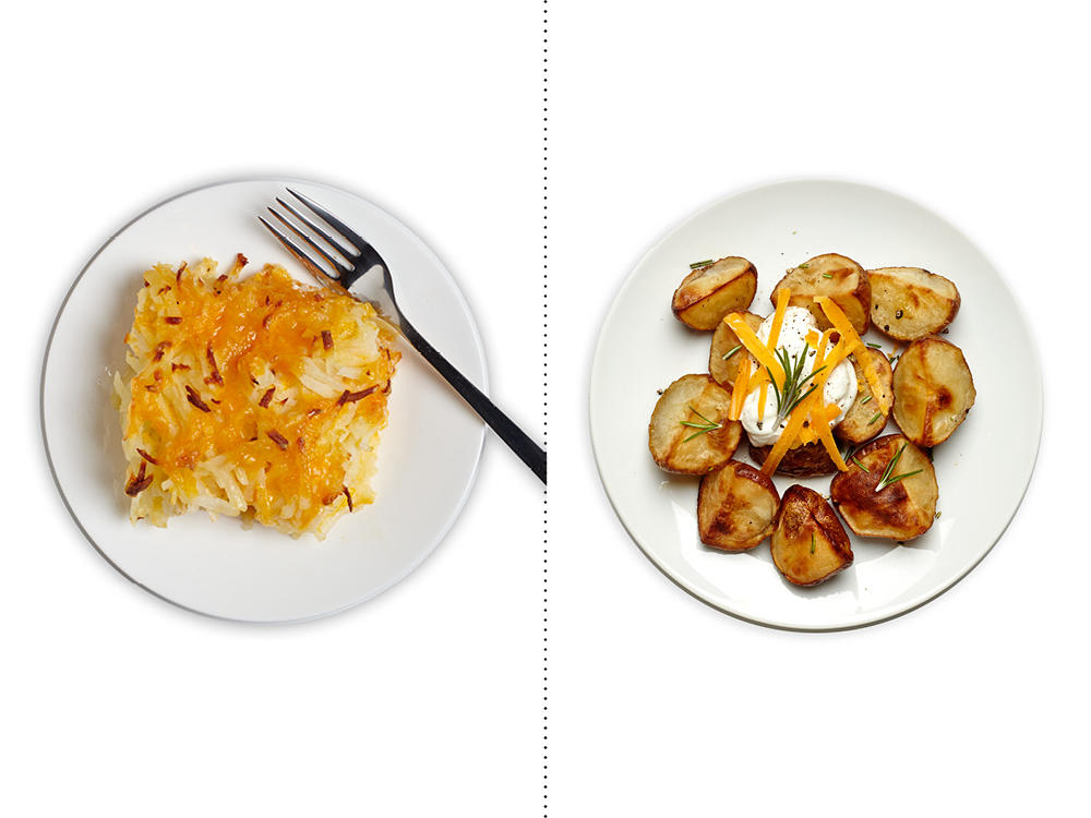 Instead of Classic Hashbrown Casserole, Get Your Fix with Roasted Potatoes with Garlic and Rosemary