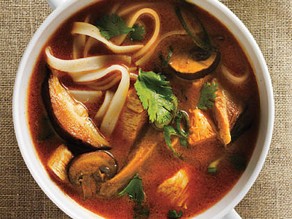 Coconut Red Curry Hot Pot with Braised Chicken and Mushrooms