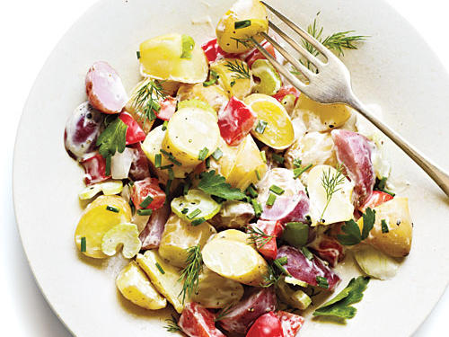 Oklahoma Recipe: Potato and Vegetable Salad with Mustard Ranch
