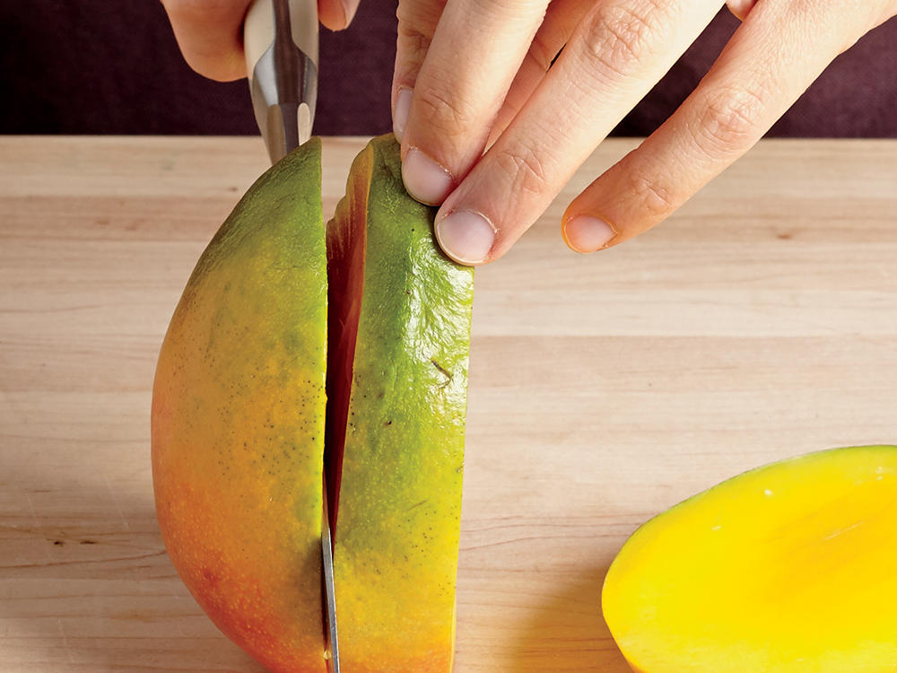 Step 1: Slice Mango