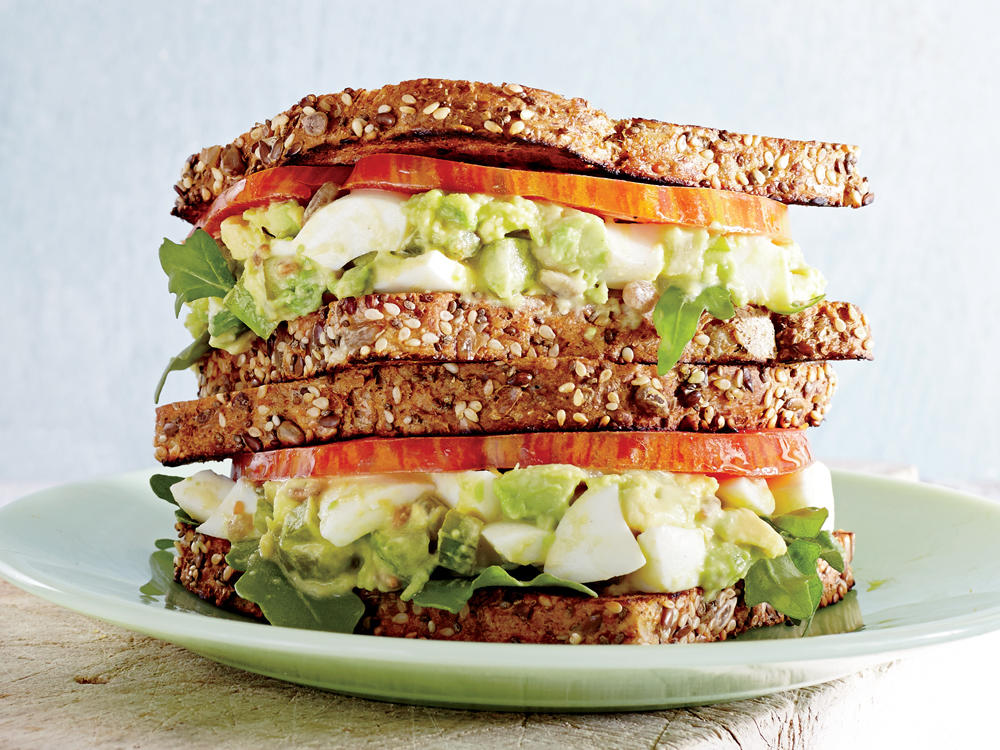 Avocado-Egg Salad Sandwiches With Pickled Celery