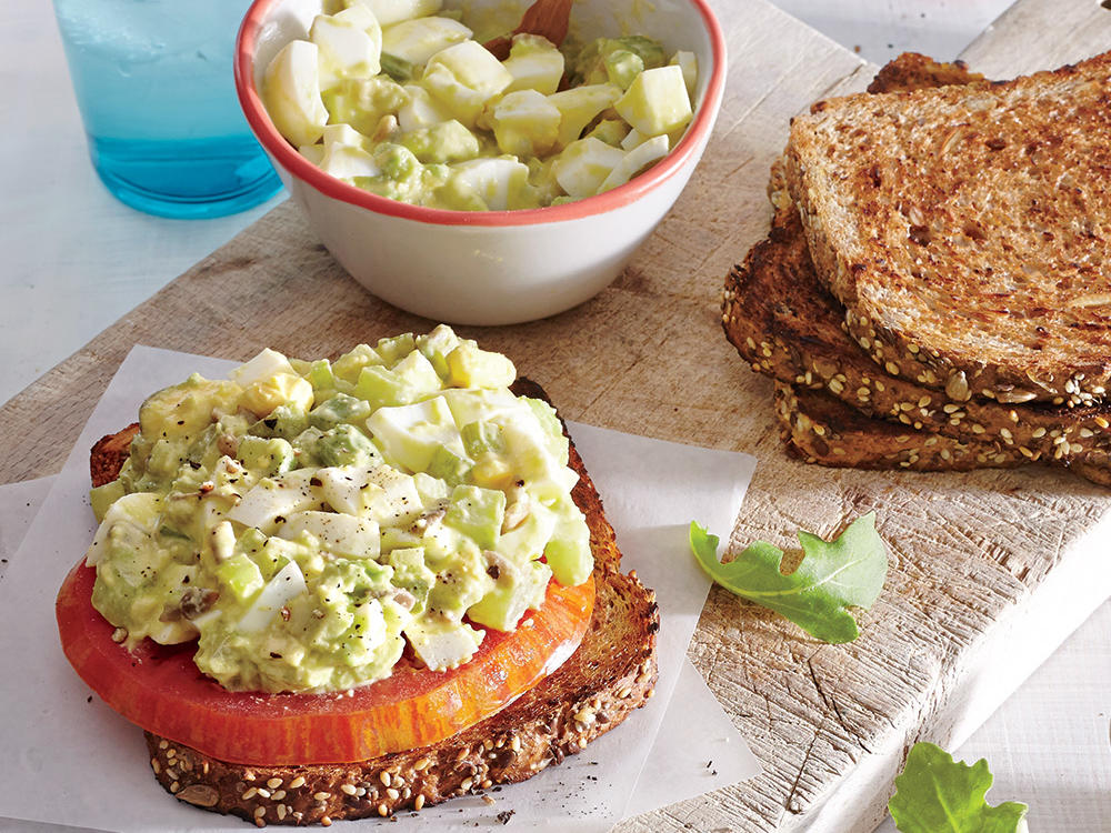 1505 Avocado-Egg Salad Sandwiches with Pickled Celery Open Face
