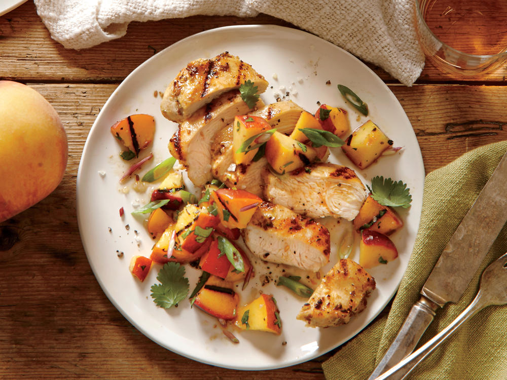 Pennsylvania Recipe: Spiced Chicken with Grilled Peach Salsa