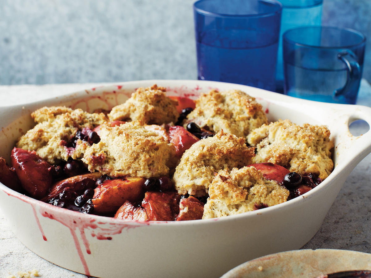 Delaware Recipe: Blueberry-Peach Cobbler with Pecans