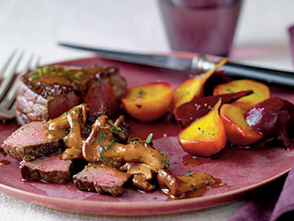 1506 Wyoming Recipe: Sumac-Dusted Bison with Chanterelle Sauce and Beets