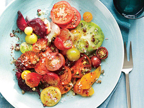 Connecticut Recipe: Heirloom Tomato and Beet Salad