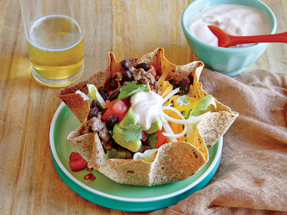 June: Beef and Bean Taco Salad
