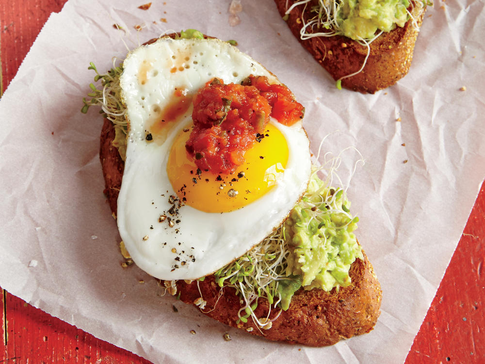 Fried Egg and Avocado Toasts