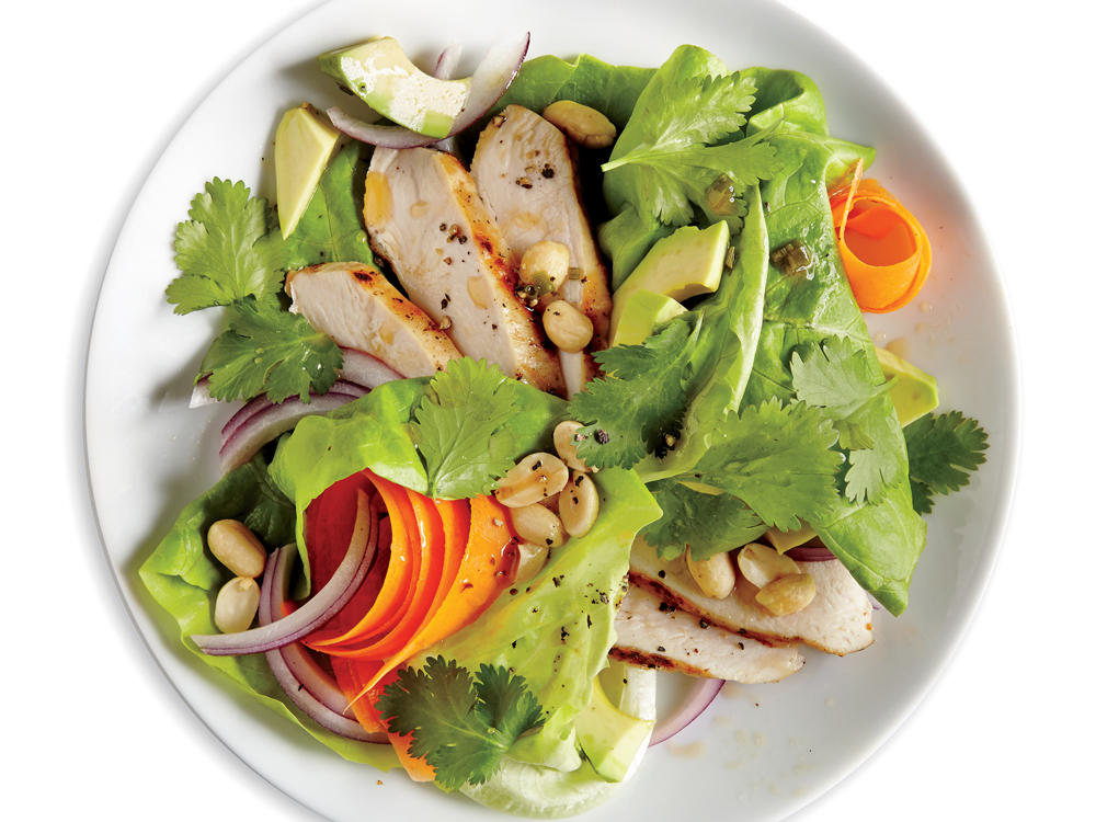 Chicken, Avocado, and Peanut Salad