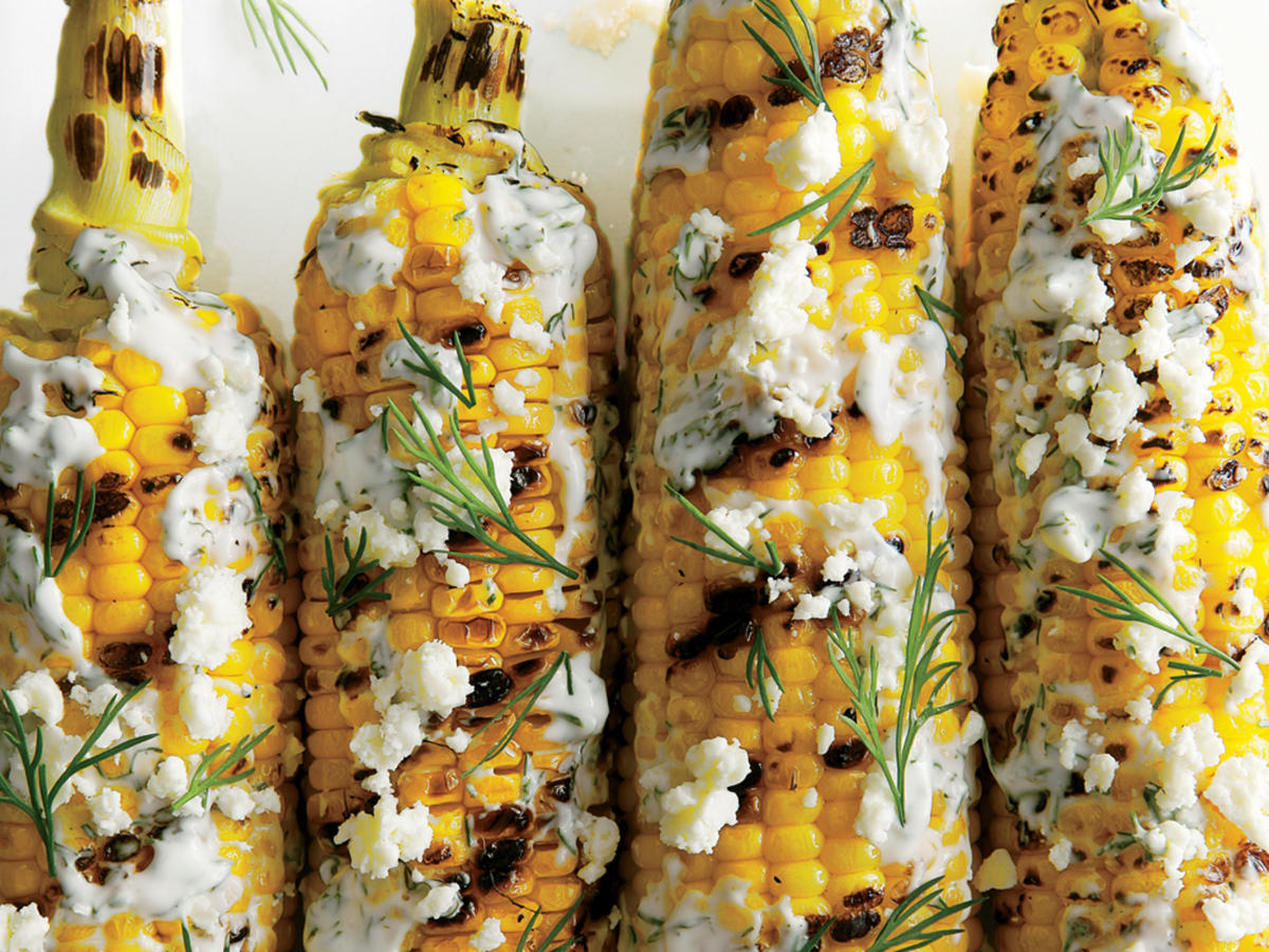 Cheesy: Grilled and Dilled Corn on the Cob