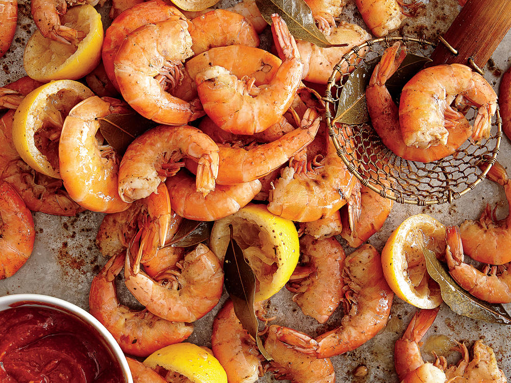 Messy: Boiled Shrimp with Tangy Cocktail Sauce