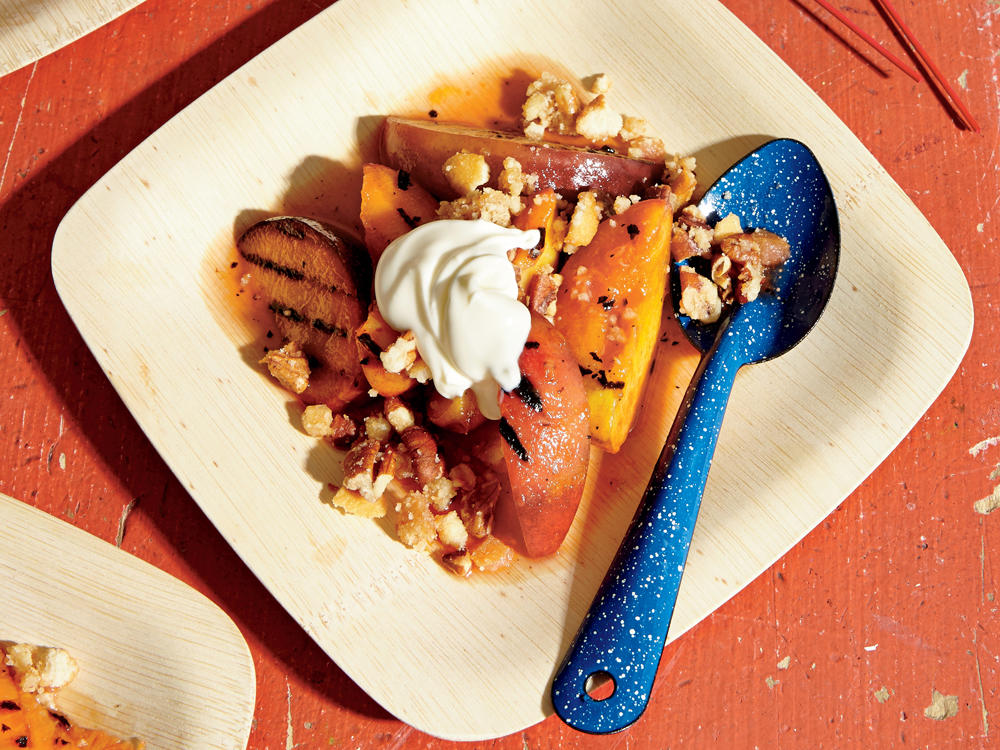 Simple Grilled Stone Fruit Crumble