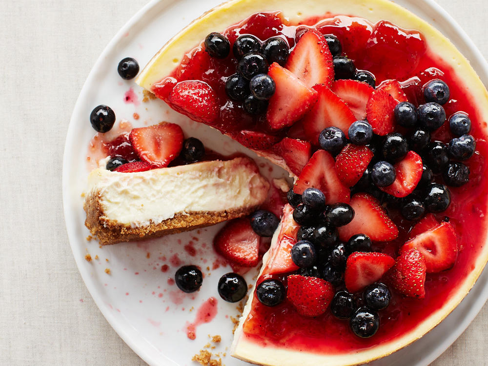 Strawberry-Blueberry Cheesecake