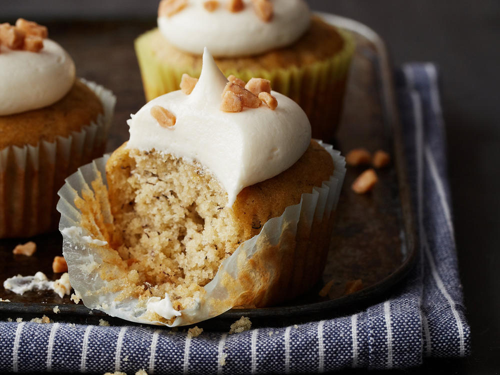 Sticky, sweet, and bursting with bananas, these cupcakes provide the perfect antidote for the after-school munchies.