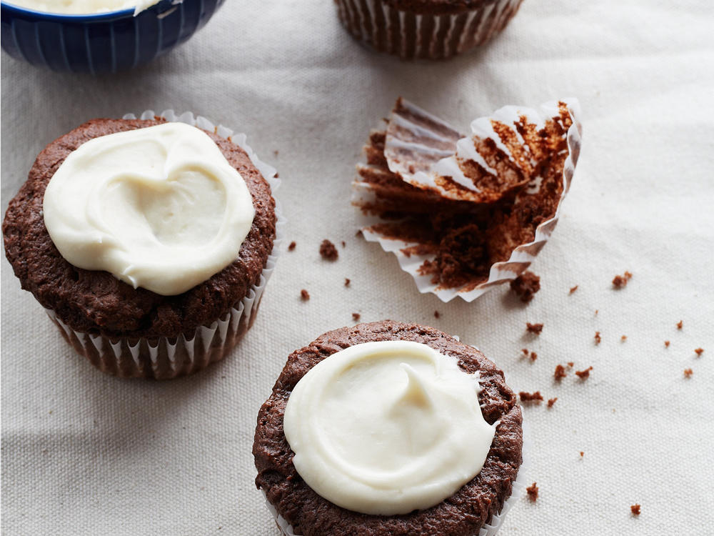 These cocoa-laden cupcakes make a delightful surprise for gluten-free chocoholics. Sour cream gives the cupcakes a moist and dense texture, leaving you more satisfied with each delicious bite.
