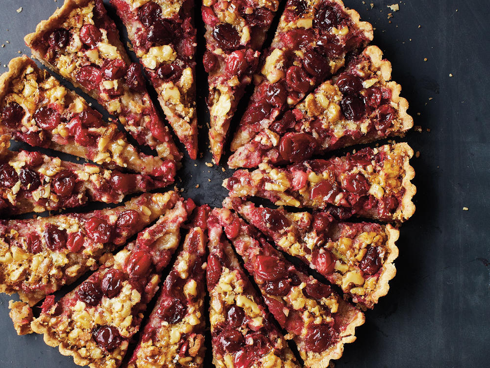 Cranberry-Walnut Tart