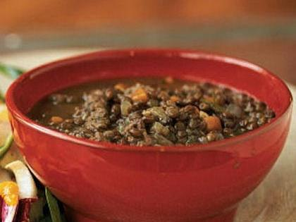 Rosemary-Scented Lentils and Sausage