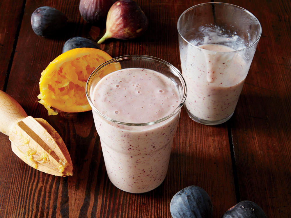 Sweet Fig Smoothies Cooking Light Diet