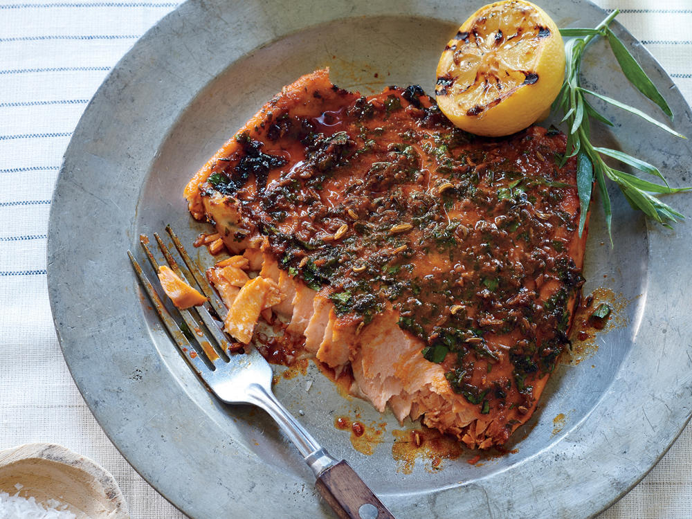 Pink Salmon with Smoky Herb Rub