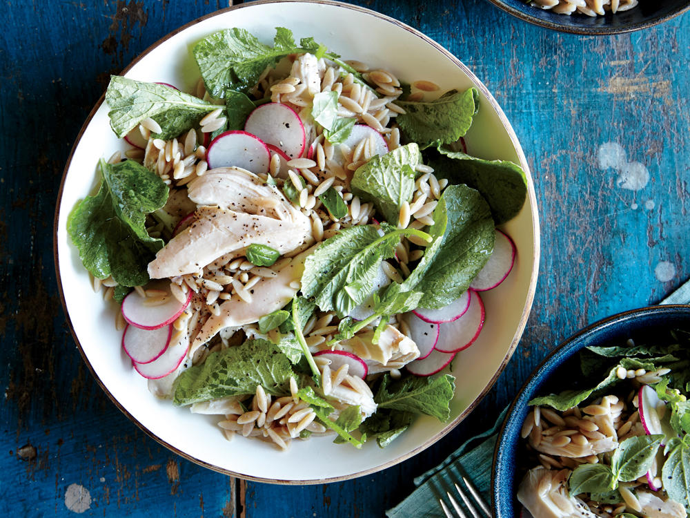 1508 Orzo Salad with Chicken and Radishes