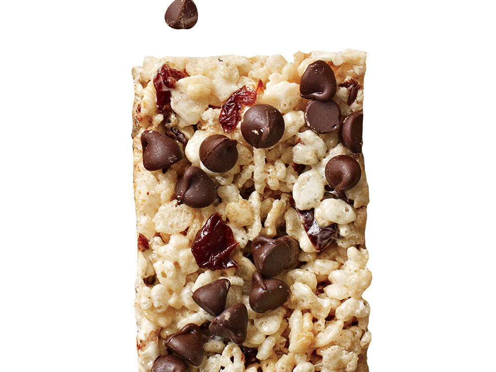 Cherry Chip Chewy Crispy Bars