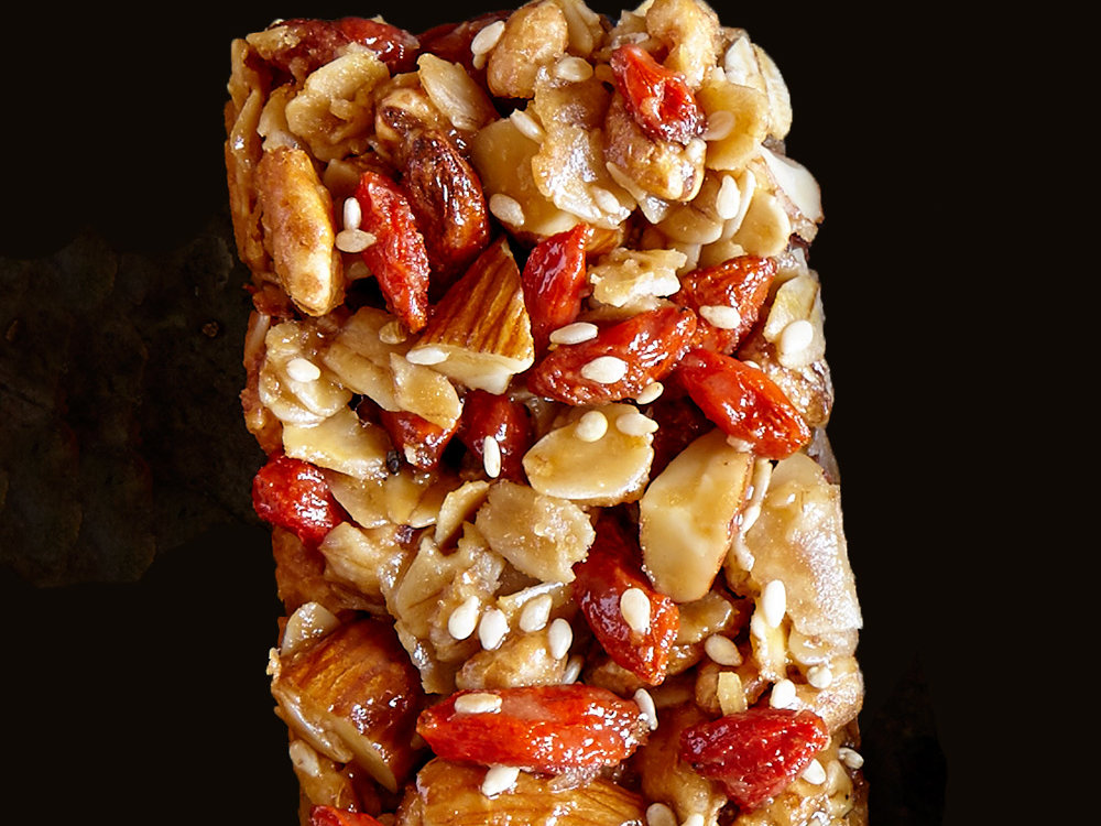 Coconut, Almond, and Goji Bars