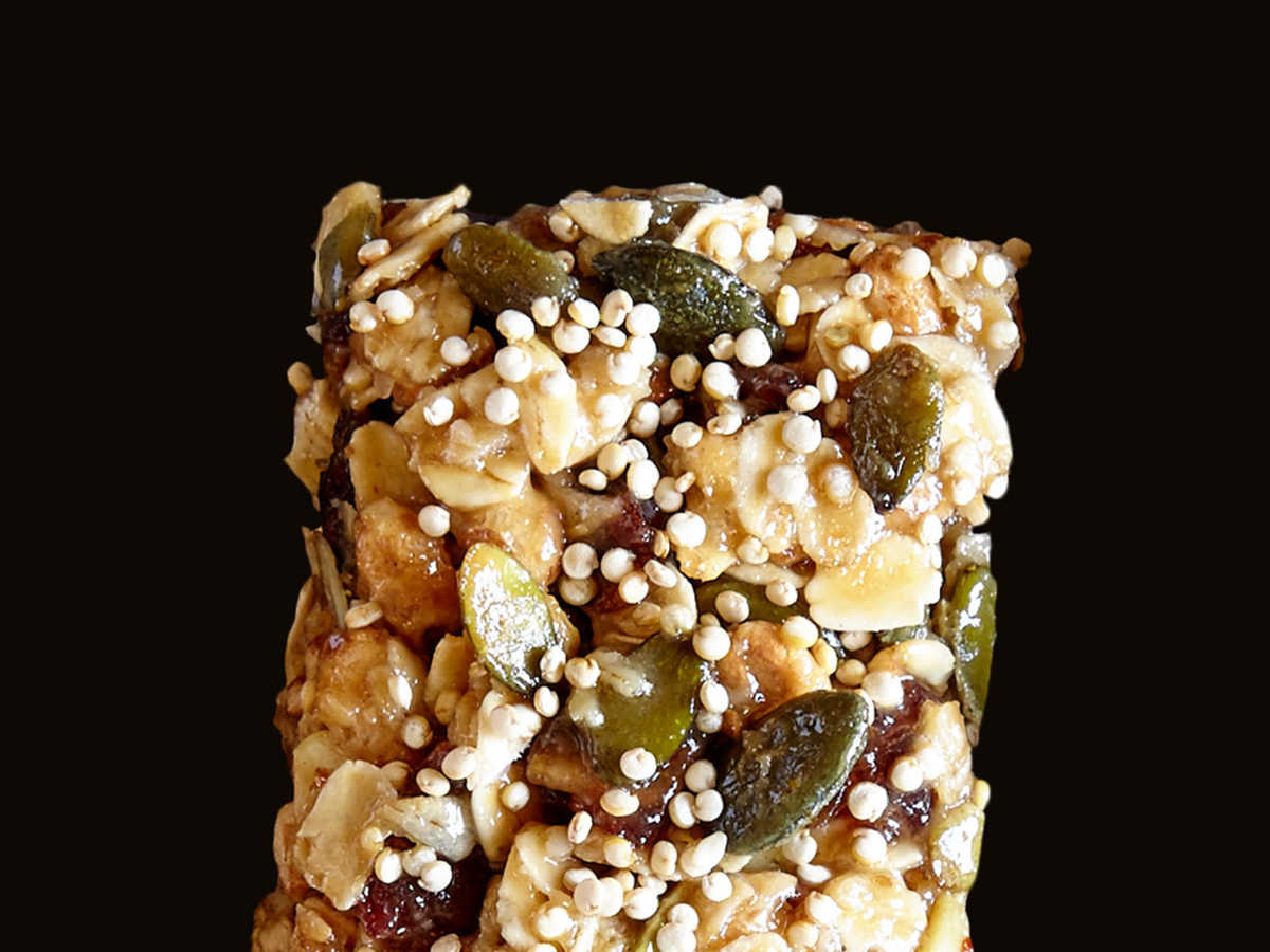 Pumpkinseed, Date, and Tahini Bars