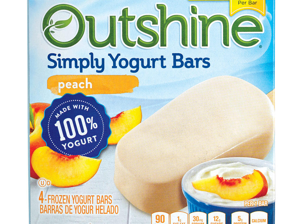 Outshine Simply Yogurt Bars in Peach