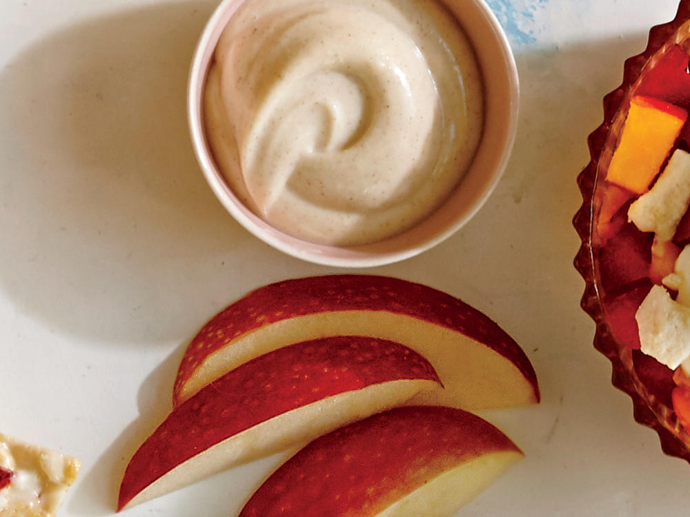 This simple treat puts the flavor of classic snickerdoodle cookies in dippable form. Serve with apple and pear slices.
