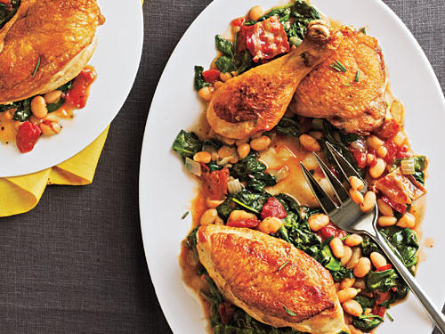 Tuscan Baked Chicken and Beans