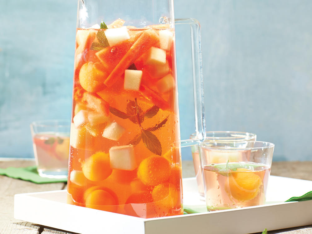 Whether it's sipped poolside on a hot summer day or savored at a festive holiday soirée, sangria highlights seasonal fruit—from sweet, juicy peaches in summer to delightfully bitter blood oranges in winter. While the ingredients can vary, this Spanish drink typically contains a dry red, white, or sparkling wine, a sweetener, fresh fruit, and a small amount of brandy.