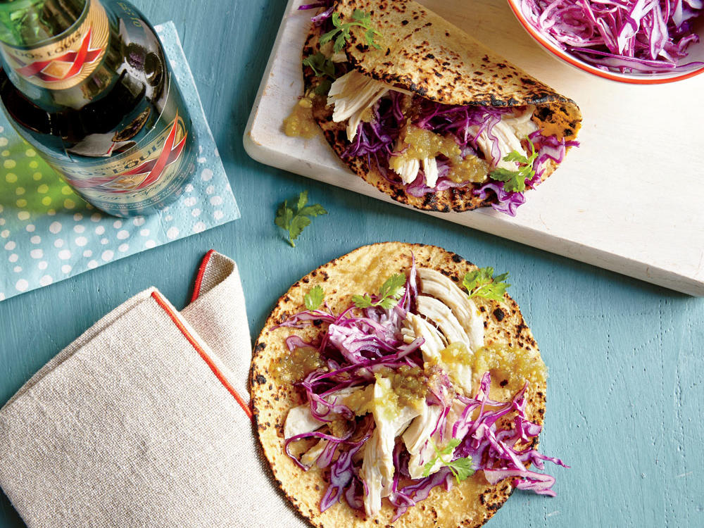 We like warm taco filling, but if you're going for something a little cooler and more refreshing, skip step 1 and drizzle the salsa over assembled tacos. Add even more color and personality to the tacos with additional toppings like avocado, red onion, or Cotija cheese.