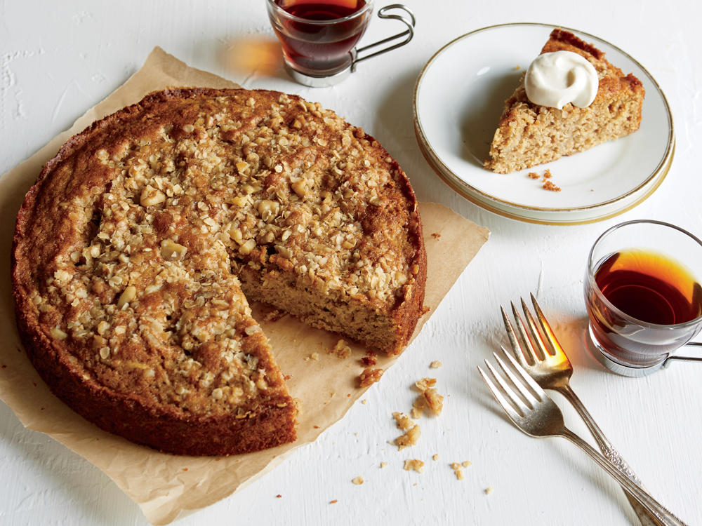 Whole-Grain Apple Cake with Yogurt Cream