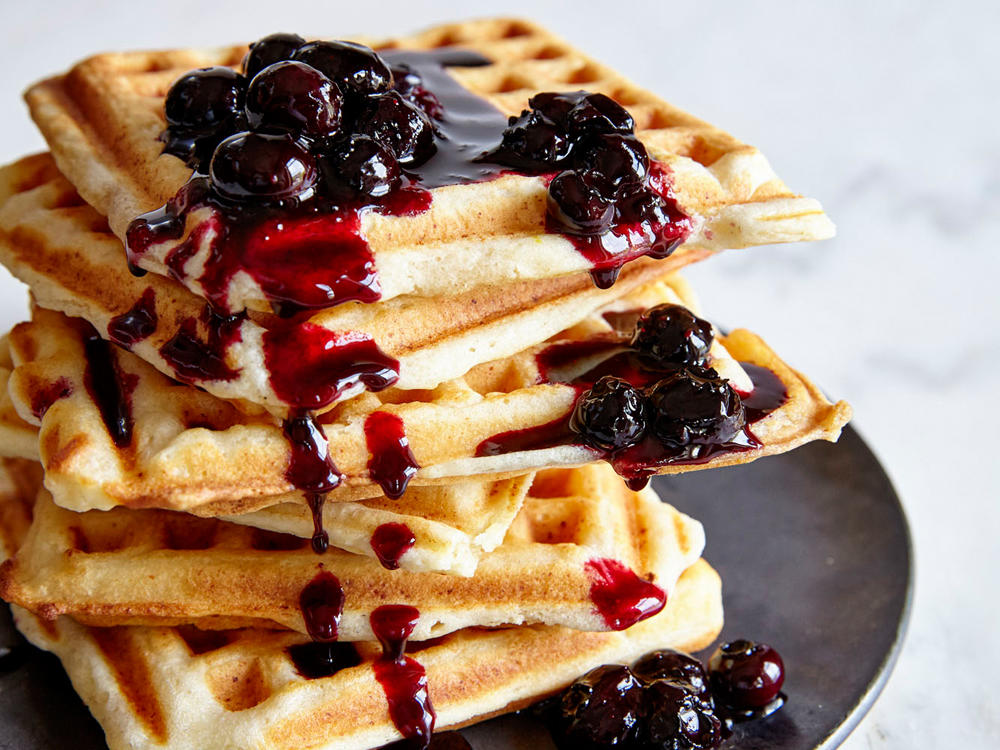 Ricotta Lemon-Blueberry Waffles
