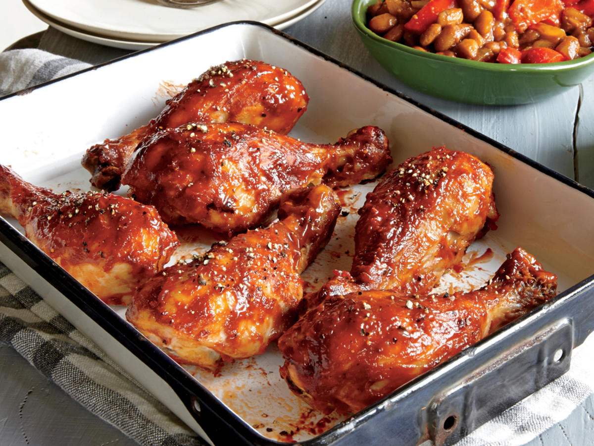 Roasted BBQ Drumsticks