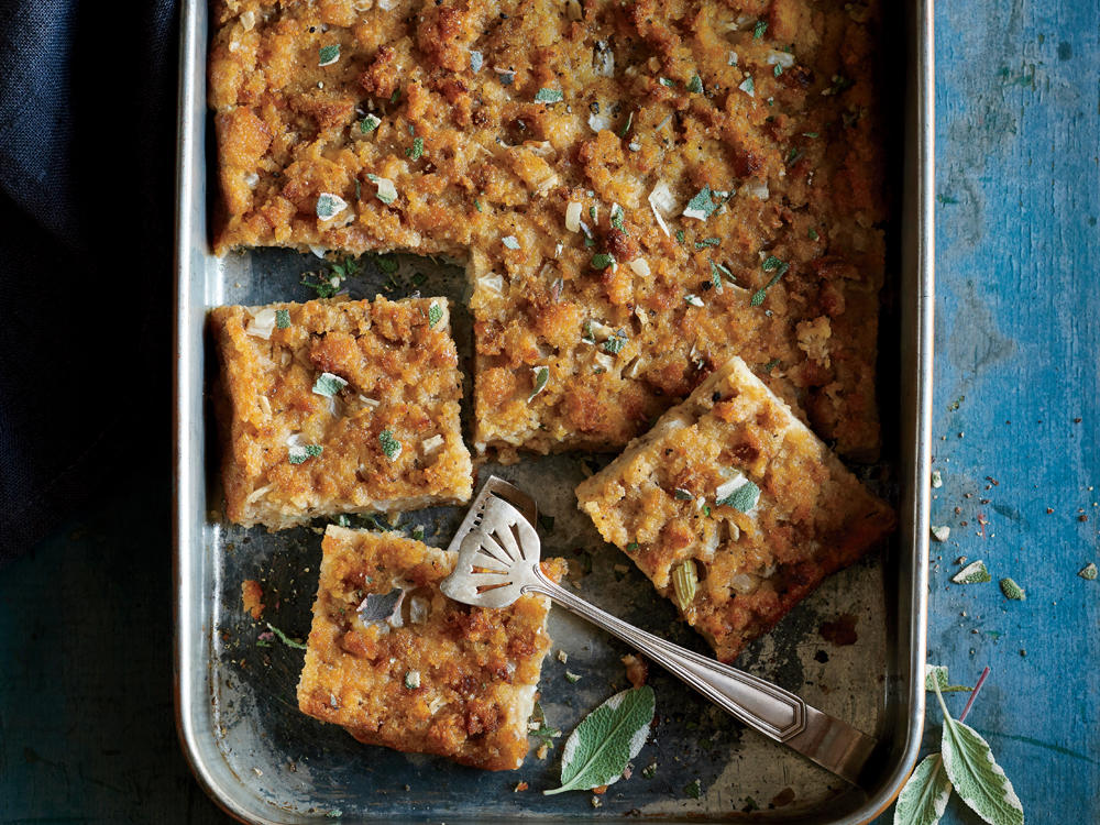 Southern Corn Bread Dressing Squares