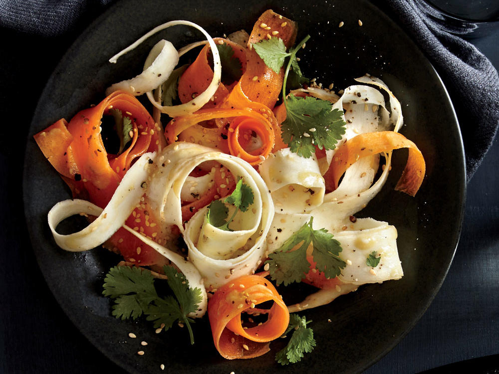 Parsnip Ribbons with Miso Vinaigrette