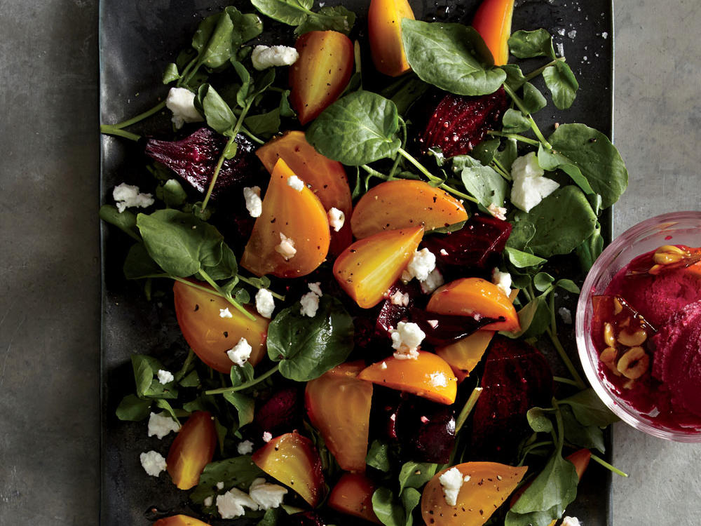 Roasted Red and Golden Beet Salad